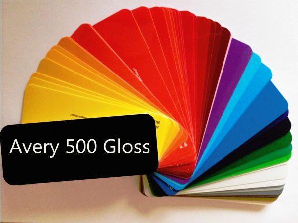 Avery 500 gloss folie